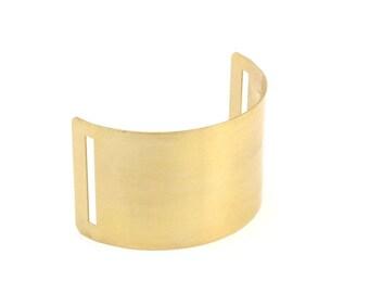 Brass Cuff Bracelet - 2 Raw Brass Cuff Bracelet Bangles (40x110x0.80mm) N517