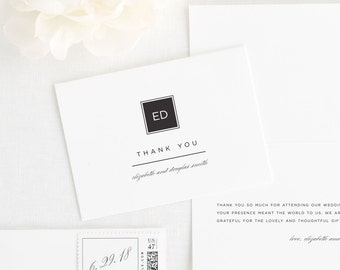 Modern Glamour Thank You Cards