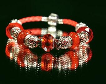 Red Sparkler ~ Bracelet