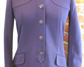 Vintage Knitalia Made in Italy Knit Plum Wool Dress
