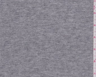 Heather Grey Jersey Sweater Knit, Fabric By The Yard