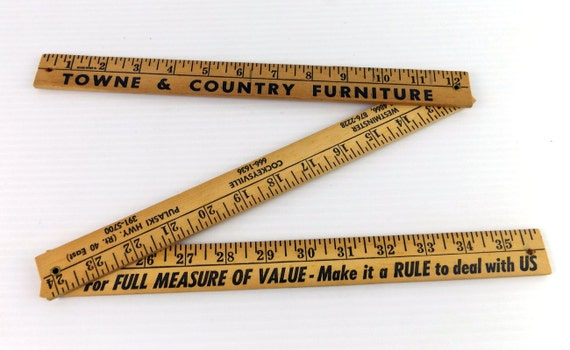Vintage Wooden Folding Ruler Town And Country Furniture