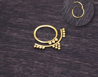 Septum Jewelry - Surgical steel daith piercing earring, septum piercing