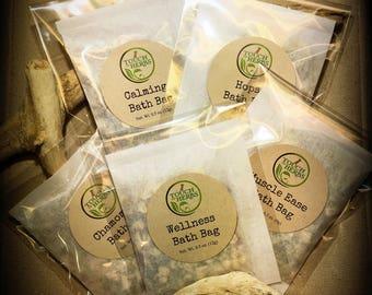 Tea bath sample . herbal bath variaty. spa gift basket ideas . herbal bath sample set . Surprise pack . sampler gifts . spa gift set .