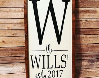 Customized family name Sign