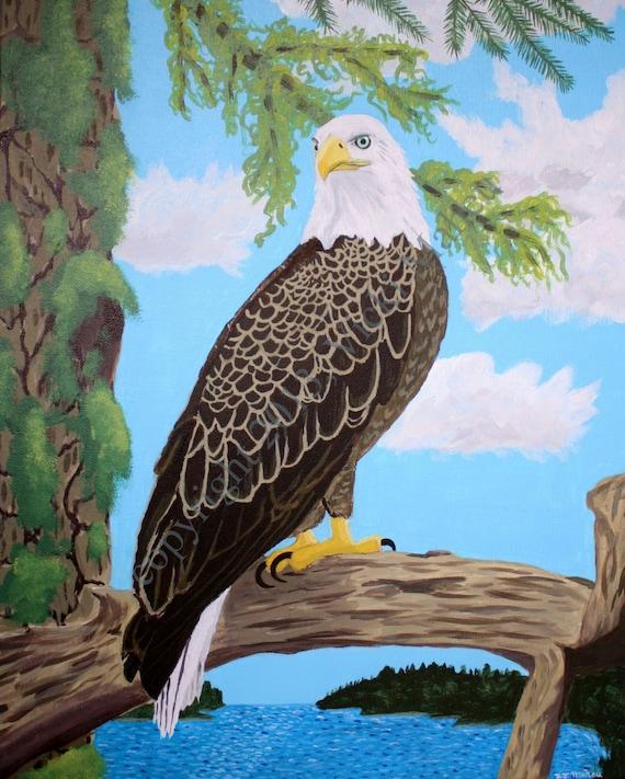Eagle Artwork Original Eagle Art Bald Eagle Art National