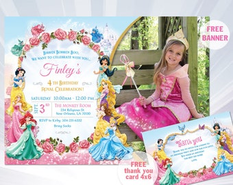 Disney princess invitation etsy princess invitations princess birthday party invitations princess birthday party girl invitation disney princess invitation filmwisefo