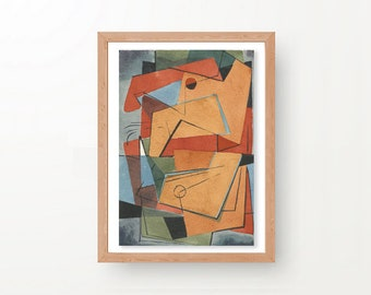 Geometric Wall Art, Mid Century Painting, Instant Download, Mid Century Wall Art, Downloadable Art, Abstract Painting, Original Painting