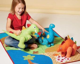 Pattern toy Dino and bedspread M7553 McCall's