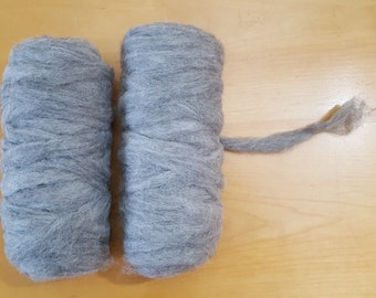 Gray Alpaca Roving, All natural, Thirds, Belly/Leg Fiber - Great for Dryer Balls and Felted Soaps