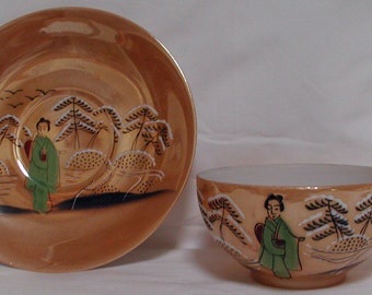 Lithophane Cup and Saucer