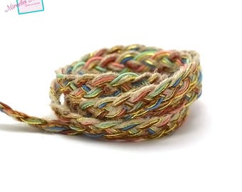 12 mm 005 multicoloured braided cord strap 1 m