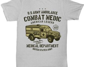 US Army Ambulance Combat Medical Department T-shirt