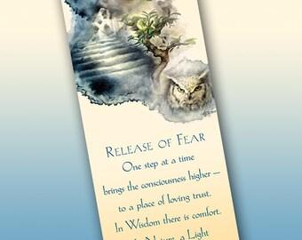 Release of Fear Bookmark - Bookmarker - Bookmarking - Bookmarks for Books - Book Mark - Reading Bookmark - Owl Art - Tree Art - Dreams