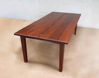 midcentury modern table, farmhouse table, danish modern, kitchen, dining room, table, mid century modern, handcrafted, hardwood furniture