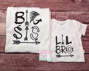 Sibling Shirts,Little Sister, Big Sister, Little Brother, Big Brother, Big Sis, Big Bro Shirt, Sibling shirt, sibling arrow shirt
