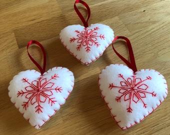 Scandinavian hand stitched felt heart