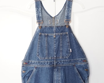 Vintage 90s hip hop TOMMY HILFIGER Denim OVERALLS Size Medium