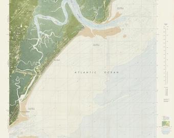 Sea Island Georgia Map 1979