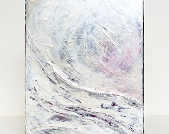"Petite Abstract No. 99 - original 8"" x 10"" textured acrylic abstract painting"