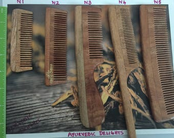 Handcrafted Neem wood comb - Anti-Dandruff, healthy scalp & hair - Baby's and Men comb