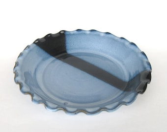 Pie Plate - Pacifica Blue Glaze