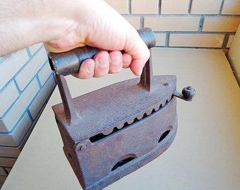 Antique iron, Iron vintage, old russin smoothing-iron, metal flatiron
