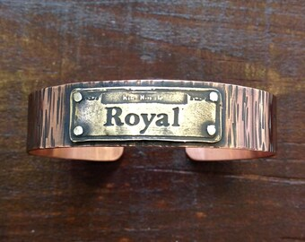 Royal Street Sign Cuff Bracelet