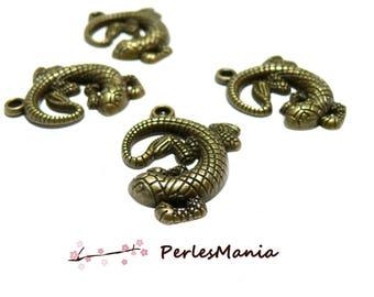 10 charms salamander, lizard 2W6516 Bronze