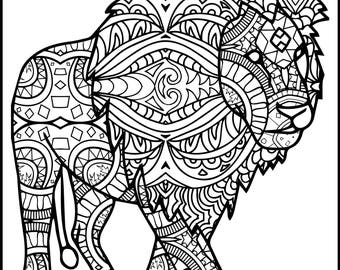 3 Printable Pages For Coloring Lion Lovers