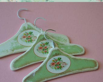 Miniature dress Hanger A-90, set of 3 hangers for dollhouse scale 1/6