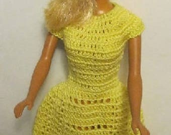 Barbie Dress - Southern Summer Dress in yellow