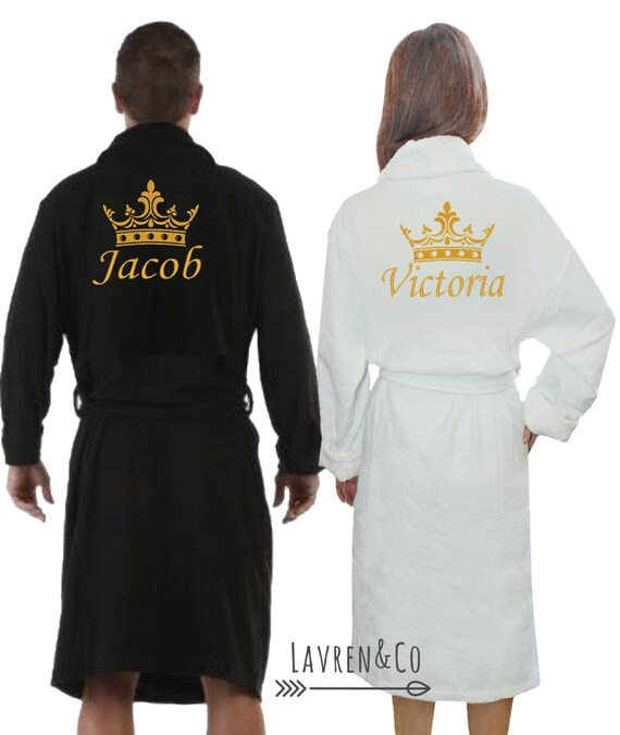 Personalised dressing gown bath robe customised gift His