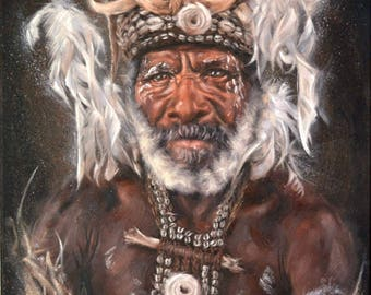 Tribal Leader Painting