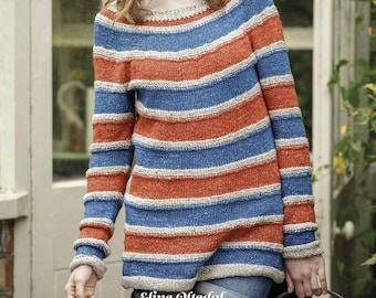 PDF Knitting Pattern for Seaside Jumper