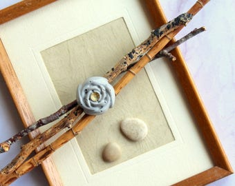Ring flower rose concrete cement gold