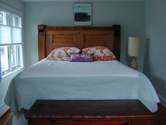 H10 Handmade Wooden Headboard Created From Architectural
