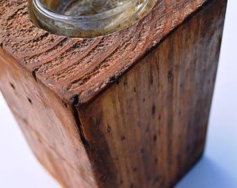 Pallet Pillar Block Candle Holder, Tealight Candle Holders, Wooden Candle Holders, Rustic Candle Holder