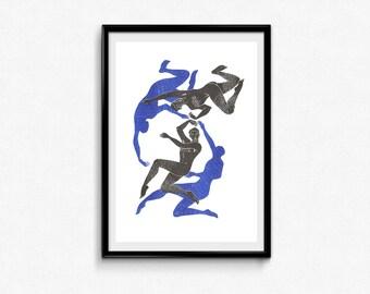 Dance - riso print