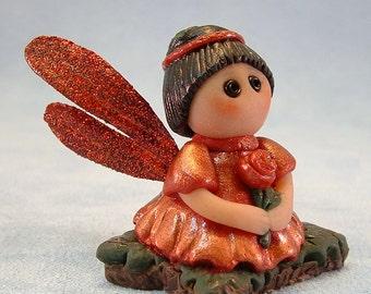 Pixie Fairy Fantasy OOAK Miniature Polymer Clay Art Doll Miniature