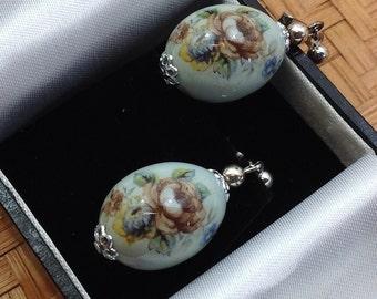 Robin's egg earrings.