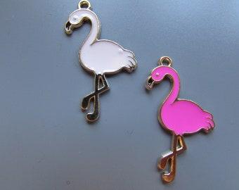 Flamingo charm pendant 2 colours to choose