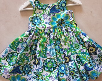 Size 3 dress, Summer dress, toddler dress, girls dress, floral dress, party dress, size 3, cotton dress, tea party dress