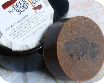 Wood Cashmere Beer Soap Made with Shiner Bohemian Black Lager