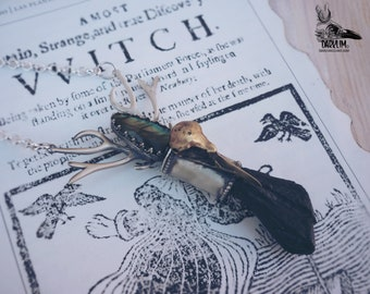 Heavenly. rugged pendant rustic gothic unisex labradorite and black quartz Pagan wicca