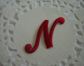 MONOGRAM TO PERSONALIZE RED ¤ LETTER N
