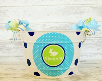 Personalized Bucket for Easter | Easter Bucket for Kids | Large Easter Bucket | Personalized Easter Bucket |  Personalized Easter Basket