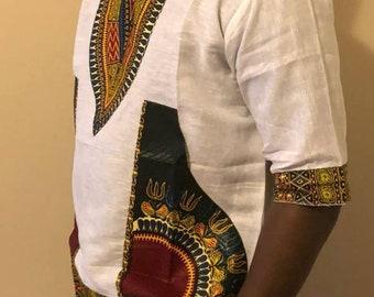 African Print Dashiki T-shirt