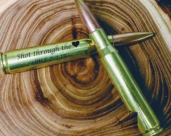 Valentines Day Gift for Him - 50 Caliber® - Bullet Bottle Opener - Personalized