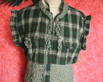 Bohemian crochet shirt